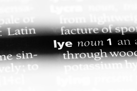 lye word in a dictionary. lye concept. 스톡 콘텐츠