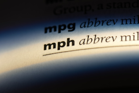 mph word in a dictionary. mph concept. Stock Photo