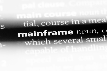 mainframe word in a dictionary. mainframe concept.