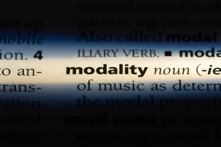 modality word in a dictionary. modality concept.
