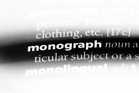 monograph word in a dictionary. monograph concept. Stock Photo