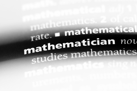 mathematician word in a dictionary. mathematician concept.
