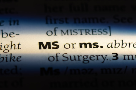 ms word in a dictionary. ms concept. 版權商用圖片