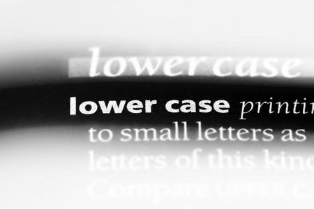 lower case word in a dictionary. lower case concept.