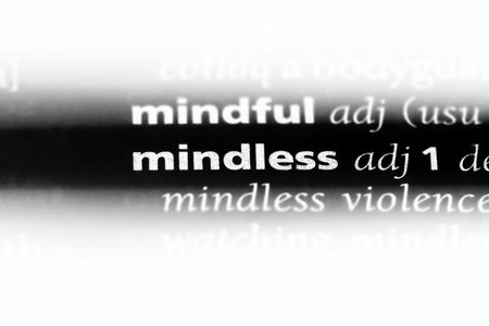 mindless word in a dictionary. mindless concept. Stok Fotoğraf