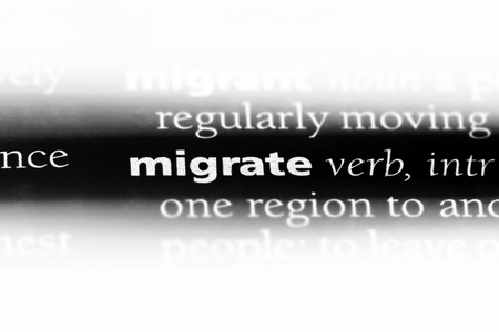 migrate word in a dictionary. migrate concept.