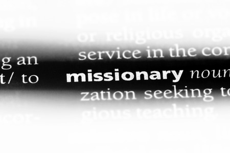 missionary word in a dictionary. missionary concept. Stock Photo