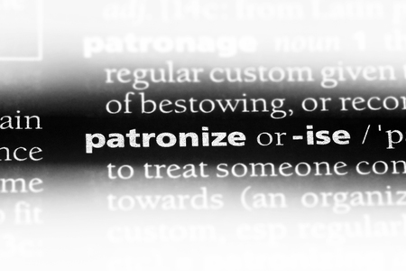 patronize word in a dictionary. patronize concept.