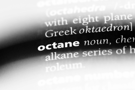 octane word in a dictionary. octane concept.