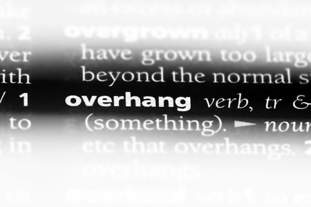 overhang word in a dictionary. overhang concept. 版權商用圖片 - 107536683