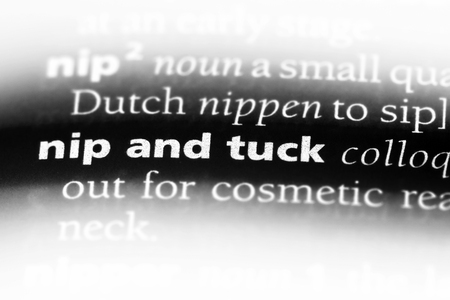 nip and truck word in a dictionary. nip and truck concept.