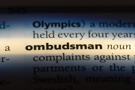 ombudsman word in a dictionary. ombudsman concept. Stockfoto