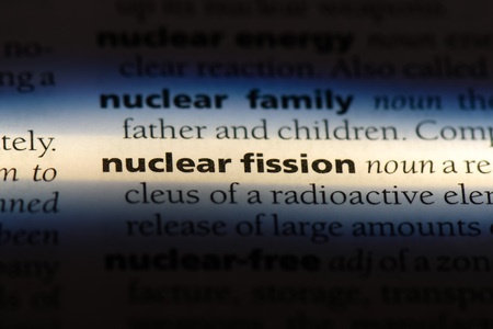 nuclear fission word in a dictionary. nuclear fission concept. Stock fotó