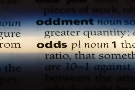 odds word in a dictionary. odds concept.