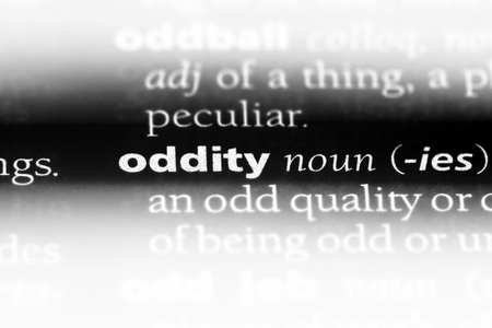 oddity word in a dictionary. oddity concept. Stock Photo