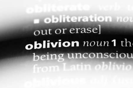 oblivion word in a dictionary. oblivion concept. Stock Photo