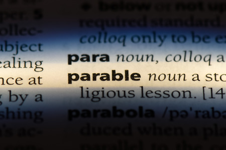 parable word in a dictionary. parable concept.