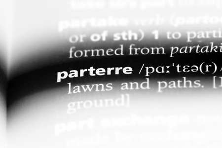 parterre word in a dictionary. parterre concept.