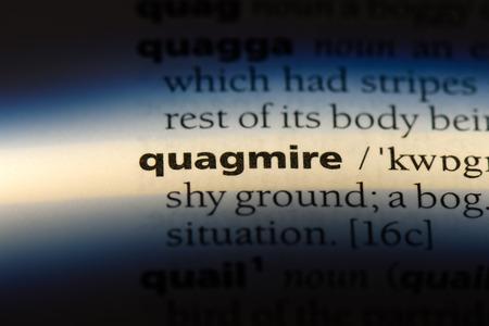 quagmire word in a dictionary. quagmire concept. Stock fotó