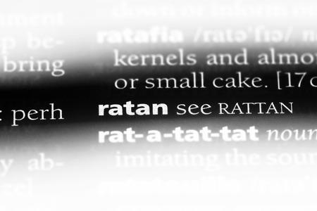 ratan word in a dictionary. ratan concept.