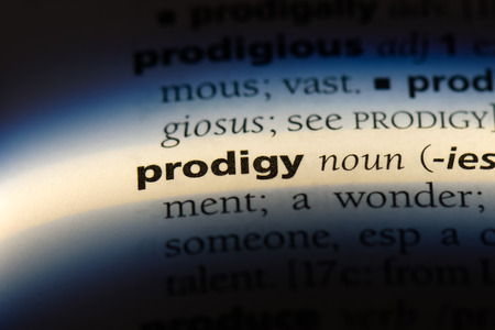 prodigy word in a dictionary. prodigy concept.