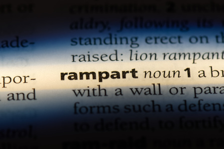 rampart word in a dictionary. rampart concept.