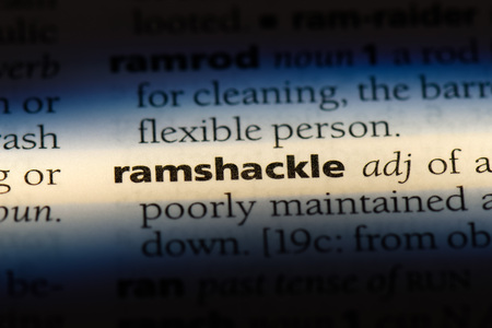 ramshackle word in a dictionary. ramshackle concept.
