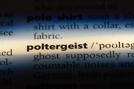 poltergeist word in a dictionary. poltergeist concept.