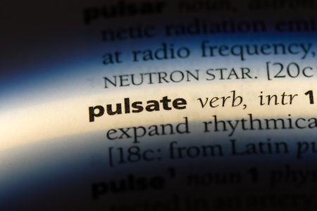 pulsate word in a dictionary. pulsate concept. Stock fotó