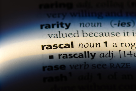 rascal word in a dictionary. rascal concept. Stock Photo