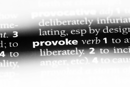 provoke word in a dictionary. provoke concept.