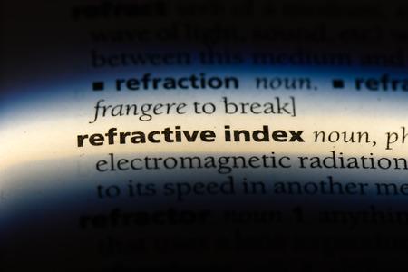 refractive index word in a dictionary. refractive index concept. 写真素材