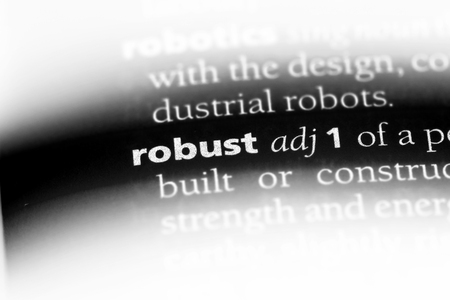 robust word in a dictionary. robust concept. Banque d'images - 107746445