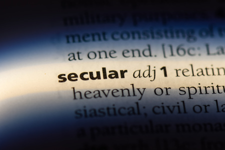 secular word in a dictionary. secular concept. Stock fotó