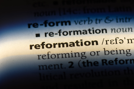 reformation word in a dictionary. reformation concept.