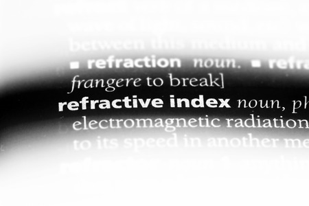 refractive index word in a dictionary. refractive index concept. 写真素材