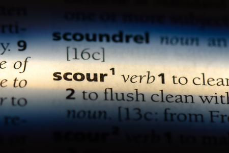 scour word in a dictionary. scour concept. Stock fotó