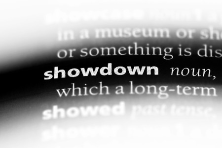 showdown word in a dictionary. showdown concept. 写真素材