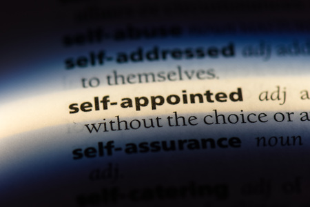 self appointed word in a dictionary. self appointed concept. 写真素材