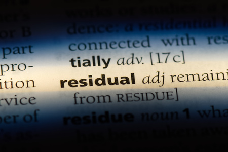 residual word in a dictionary. residual concept.