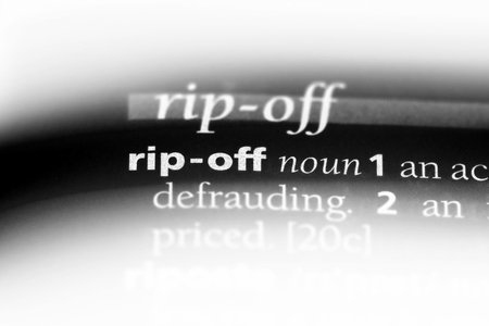 rip off word in a dictionary. rip off concept.