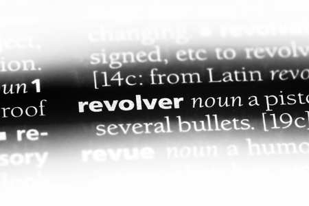 revolver word in a dictionary. revolver concept. 写真素材