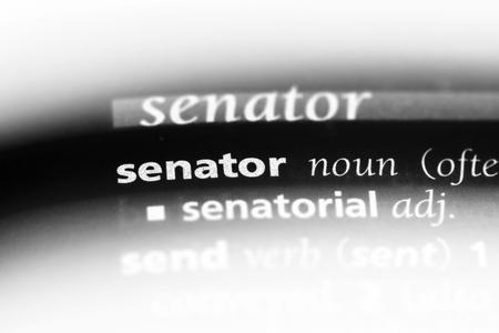senator word in a dictionary. senator concept. Stock Photo