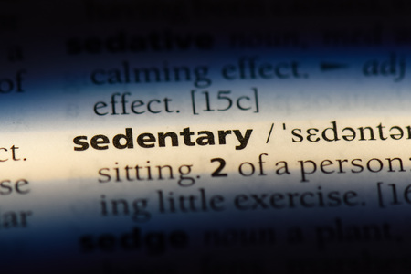 sedentary word in a dictionary. sedentary concept. Stock Photo
