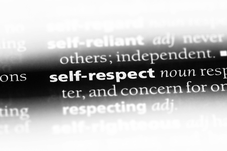 self respect word in a dictionary. self respect concept.