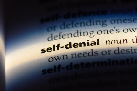 self denial word in a dictionary. self denial concept. Stok Fotoğraf