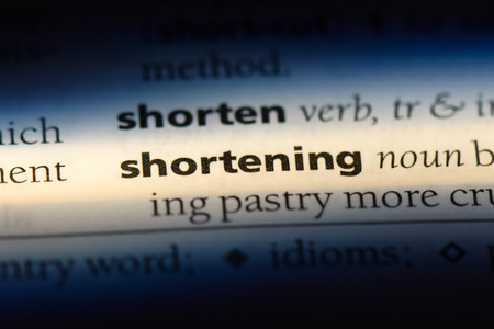 shortening word in a dictionary. shortening concept. Stok Fotoğraf - 107798315
