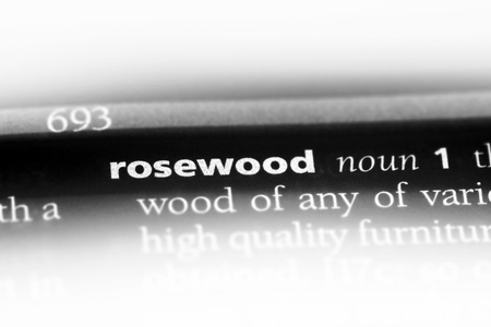 rosewood word in a dictionary. rosewood concept. Reklamní fotografie