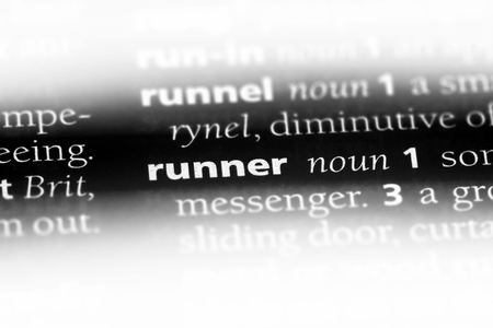 runner word in a dictionary. runner concept. Stok Fotoğraf - 107798318