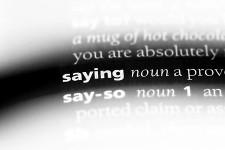 saying word in a dictionary. saying concept. Stok Fotoğraf